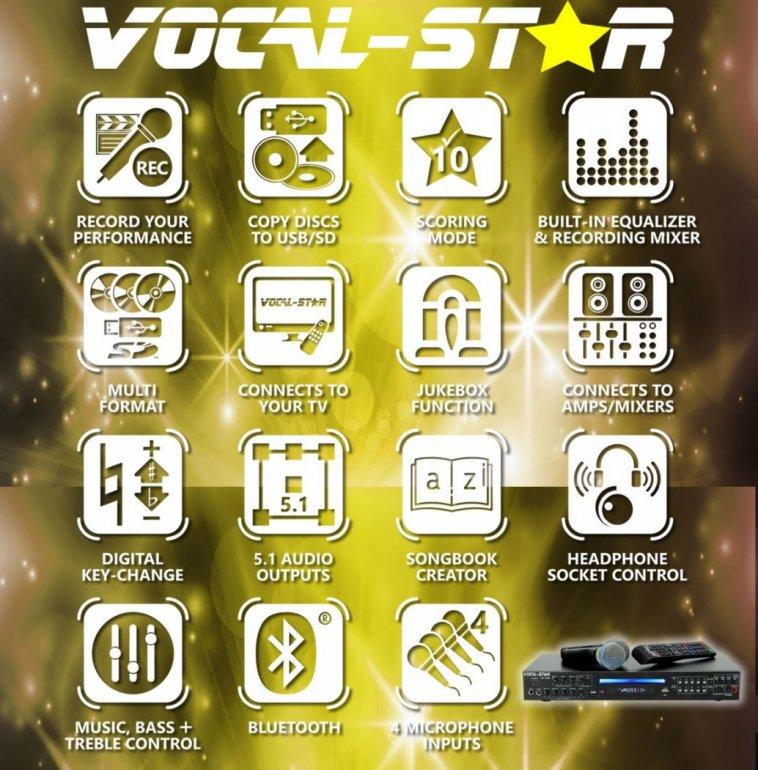 Vocal-Star VS-1200 HDMI Pro Smart Karaoke Machine Set with