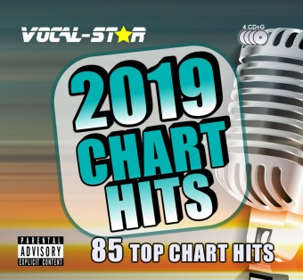 VOCAL-STAR 2019 KARAOKE HITS 85 SONGS On 4 CDG Discs image
