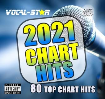 VOCAL-STAR 2021 KARAOKE HITS 80 SONGS ON 4 CDG DISCS image