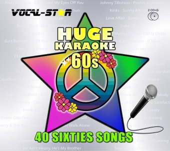 Vocal-Star Huge Karaoke Hits of 60s - 40 Songs - 2 CDG Disc Set image