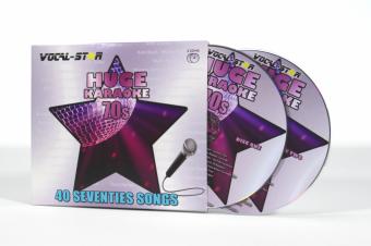 Vocal-Star Huge Karaoke Hits of 70s - 40 Songs - 2 CDG Disc Set image