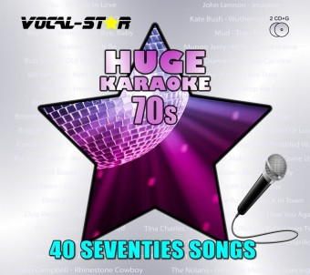 Vocal-Star Huge Karaoke Hits of 70s - 40 Songs - 2 CDG Disc Set image