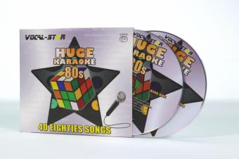 Vocal-Star Huge Karaoke Hits of 80s - 40 Songs - 2 CDG Disc Set image