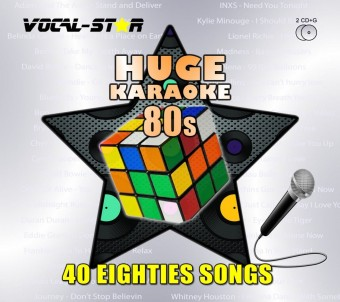 Vocal-Star Huge Karaoke Hits of 80s - 40 Songs - 2 CDG Disc Set image