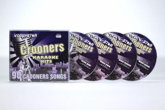Vocal-Star Crooners Karaoke Disc Set 4 CDG Discs 90 Songs image