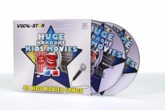 Vocal-Star Huge Karaoke Hits of Kids Movies - 40 Songs - 2 CDG Disc Set image