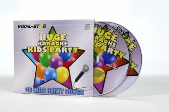 Vocal-Star Huge Karaoke Hits of Kids Party - 40 Songs - 2 CDG Disc Set image