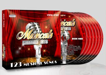 Vocal-Star Huge Karaoke Hits of Musicals - 40 Songs - 2 CDG Disc Set image