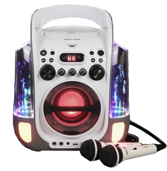 Vocal-Star (VS275BT) Portable CDG Bluetooth Karaoke Machine, Dancing Water & Led Light Show, 2 Microphones & 40 Songs image
