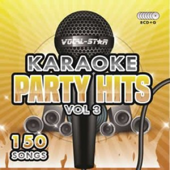 Vocal-Star Party Hits 3 Karaoke Disc Set 8 CDG Discs 150 Songs image