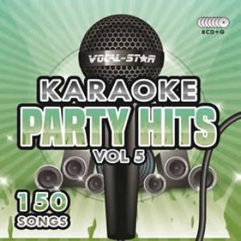 Vocal-Star Party Hits 5 Karaoke Disc Set 8 CDG Discs 150 Songs image