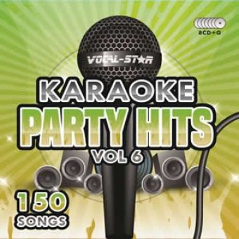 Vocal-Star Party Hits 6 Karaoke Disc Set 8 CDG Discs 150 Songs image