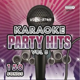 Vocal-Star Party Hits 8 Karaoke Disc Set 8 CDG Discs 150 Songs image