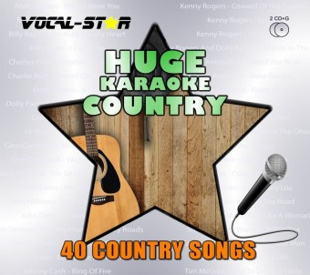 Vocal-Star Huge Karaoke Hits of Country - 40 Songs - 2 CDG Disc Set image