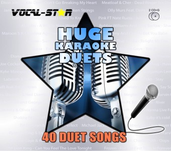 Vocal-Star Huge Karaoke Hits of Duets - 40 Songs - 2 CDG Disc Set image