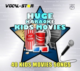 Vocal-Star Huge Karaoke Hits of Kids Movies - 40 Songs - 2 CDG Disc Set image