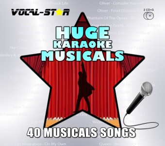 Vocal-Star Huge Karaoke Hits of Musicals - 40 Songs - 2 CDG Disc Set image