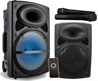 """Vocal-Star VS-P120 Portable 12"""" 300w Speaker PA Unit With Bluetooth, 2 VHF Wireless Microphones   *** PRE ORDER *** image"""