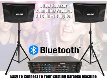 300w Speakers Amplifier & Mixer Package - Ideal to add to your existing karaoke machine image
