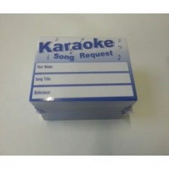 500 Karaoke Request Song Artist Slips image