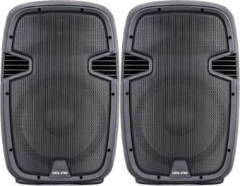 """Vocal-Star PA 15"""" 1600w Speaker System with Bluetooth MP3 Inputs image"""