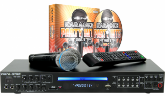 Vocal-Star VS-1200 HDMI Karaoke Machine, Bluetooth, 150 Songs & 2 Microphones image