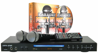 Vocal-Star VS-600 HDMI Karaoke Machine, 2 Microphones & 150 Party Songs image