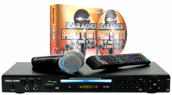 Vocal-Star VS-800 HDMI Karaoke Machine with Bluetooth 2 Microphones & 150 Party Songs image