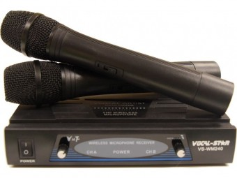 Vocal-Star VS-WM240 2 VHF Wireless Microphone Set image