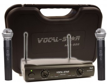 Vocal-Star WM-880 2 VHF Wireless Microphones & Carry Case image